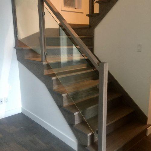 Escalier -Plancher -Rampe verre
