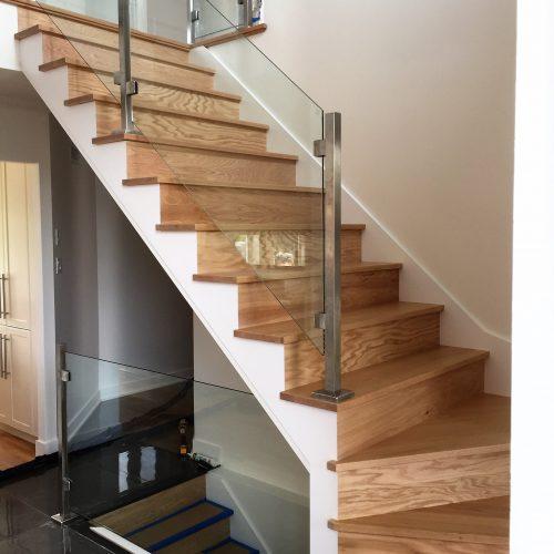 Escalier verre bungalow